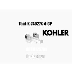 Vòi chậu rửa mặt âm tường Kohler Taut K-74027X-4-CP Chrome bóng