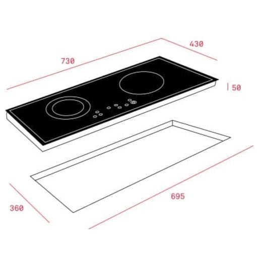 Bếp Điện Từ Teka IZ 7200 HL 10210201 Kết Hợp Hồng Ngoại 2 Vùng Nấu