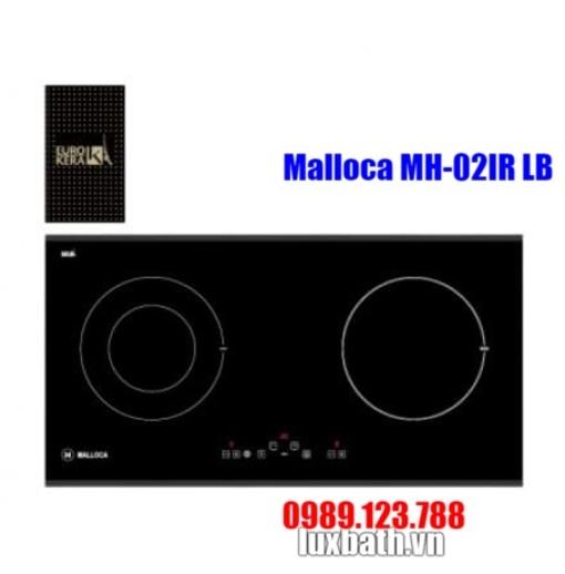 Bếp Điện Từ Malloca MH-02IR LB Kết Hợp Hồng Ngoại 2 Vùng Nấu