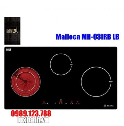 Bếp Điện Từ Malloca MH-03IRB LB Kết Hợp Hồng Ngoại 3 Vùng Nấu