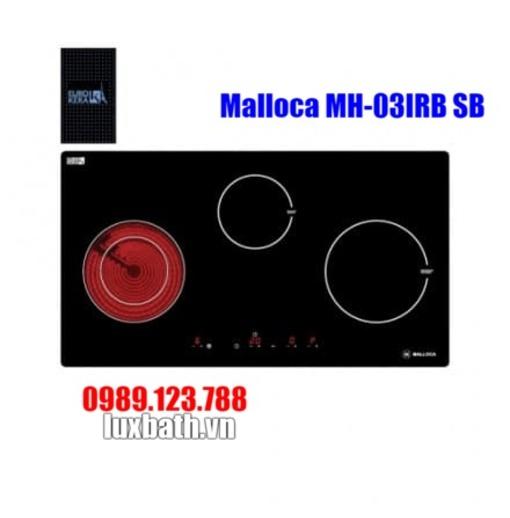 Bếp Điện Từ Malloca MH-03IRB SB Kết Hợp Hồng Ngoại 3 Vùng Nấu