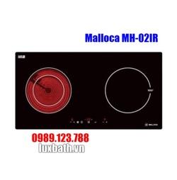 Bếp Điện Từ Malloca MH-02IR Kết Hợp Hồng Ngoại 2 Vùng Nấu