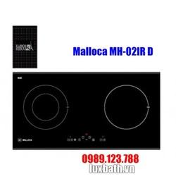 Bếp Điện Từ Malloca MH-02IR D Kết Hợp Hồng Ngoại 2 Vùng Nấu