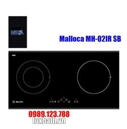Bếp Điện Từ Malloca MH-02IR SB Kết Hợp Hồng Ngoại 2 Vùng Nấu