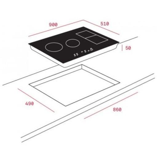 Bếp Điện Từ Teka IRF 9430 10210185 4 Mặt Bếp
