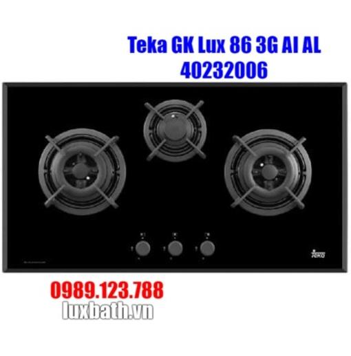 Bếp Ga Teka GK Lux 86 3G AI AL 40232006 3 Mặt Bếp