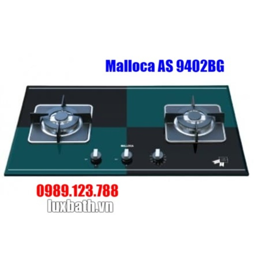 Bếp Gas Malloca AS 9402BG Mặt Kính 2 Bếp