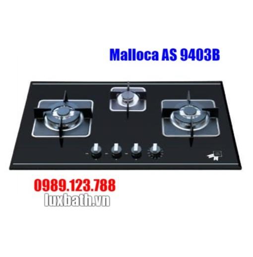 Bếp Gas Malloca AS 9403B Mặt Kính 3 Bếp