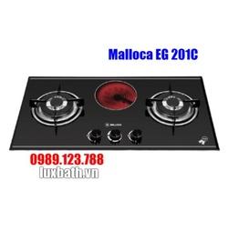 Bếp Gas Kết Hợp Hồng Ngoại Malloca EG 201C Mặt Kính 3 Bếp