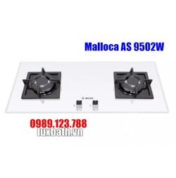 Bếp Gas Malloca AS 9502W Mặt Kính 2 Bếp