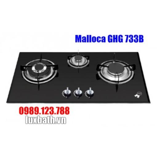 Bếp Gas Malloca GHG 733B NEW Mặt Kính 3 Bếp