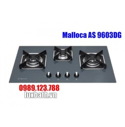 Bếp Gas Malloca AS 9603DG Mặt Kính 3 Bếp