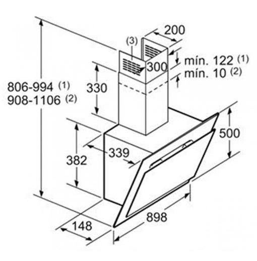 Máy Hút Mùi Bosch DWK67CM60B Gắn Tường