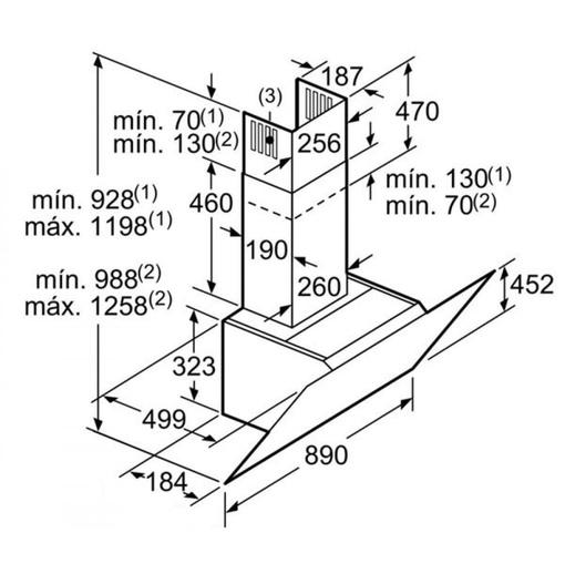 Máy Hút Mùi Bosch DWK98JQ60 Nghiêng Gắn Tường