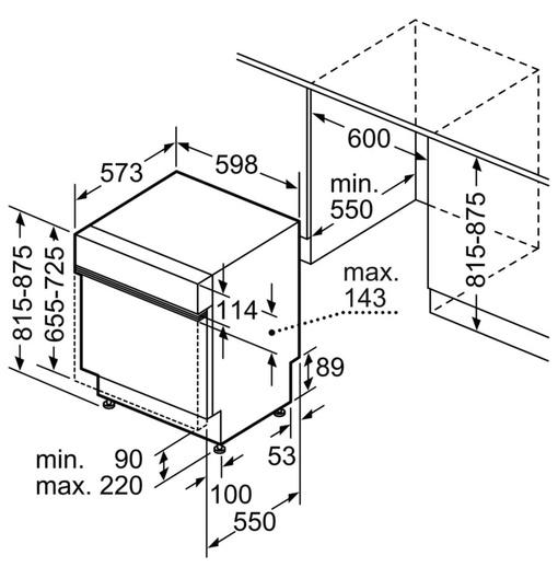 Máy Rửa Chén Bosch SMI88US36E Âm Tủ