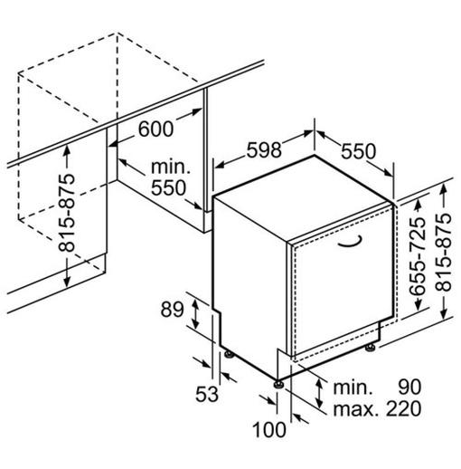 Máy Rửa Chén Bosch SMV88UX36E Âm Tủ