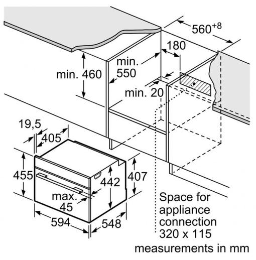 Lò Nướng Bosch HMH.CMG633BS1B Kết Hợp Vi Sóng