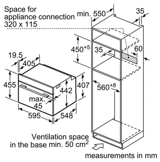 Lò Nướng Bosch HMH.CMG656BS6B Kết Hợp Vi Sóng