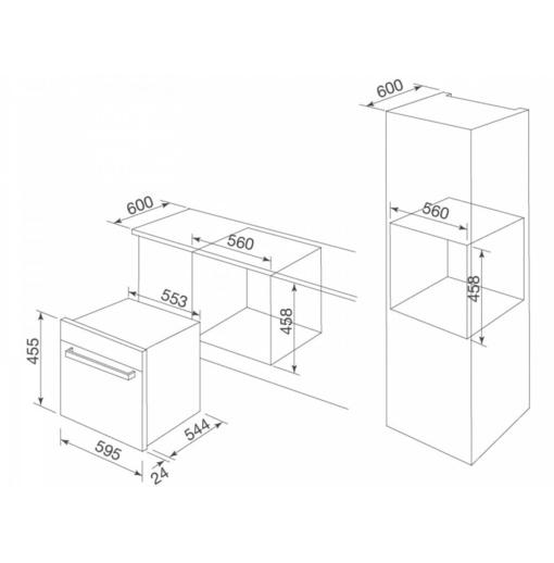 Lò Nướng Vi Sóng Malloca MW-LX12 Âm Tủ
