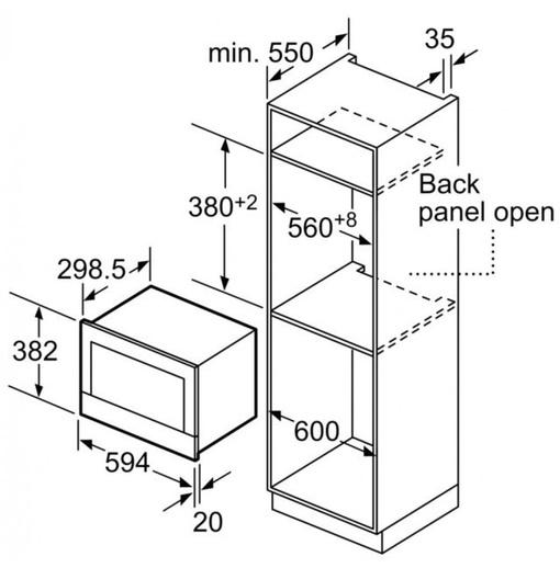 Lò Vi Sóng Bosch BFL634GB1B 21 Lít