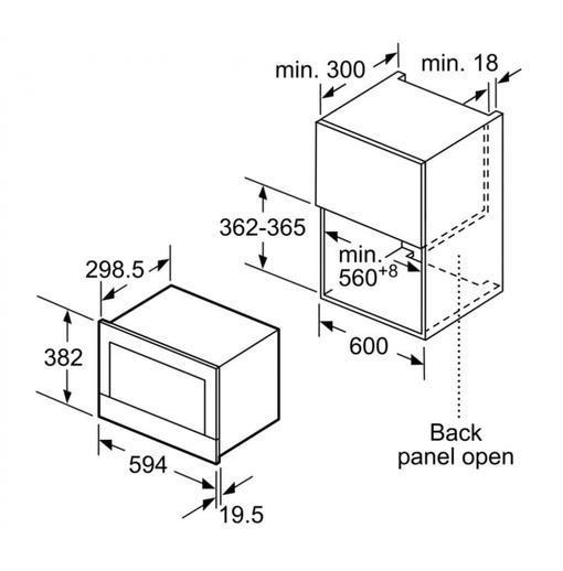 Lò Vi Sóng Bosch HMH.BFL634GS1B 21 Lít