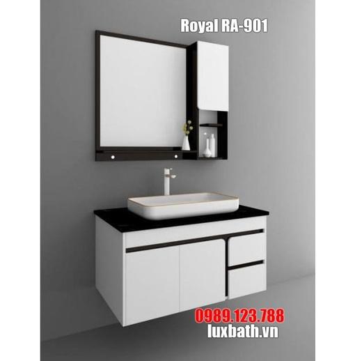 Tủ chậu đen trắng Royal RA-901