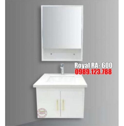 Tủ chậu đen trắng Royal RA- 600