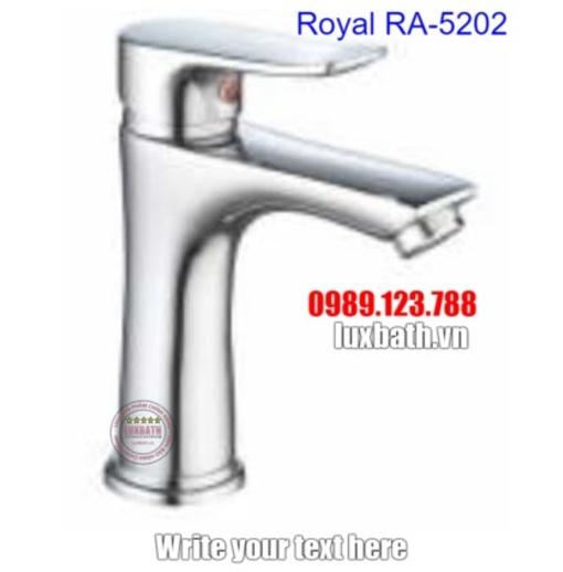 Vòi chậu lavabo 1 lỗ nóng lạnh Royal RA-5202
