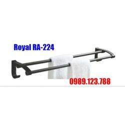 Thanh treo khăn đôi Inox đen Royal RA-224