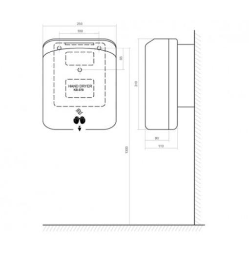 Máy Sấy Tay Tự Động Inax KS-370