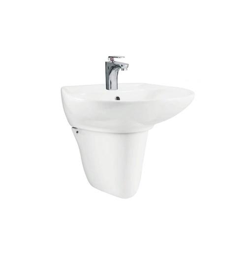 Chậu rửa mặt treo tường chân lửng Viglacera Sanfi S507