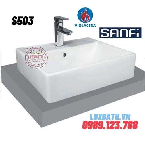 Chậu rửa mặt đặt bàn Sanfi S503