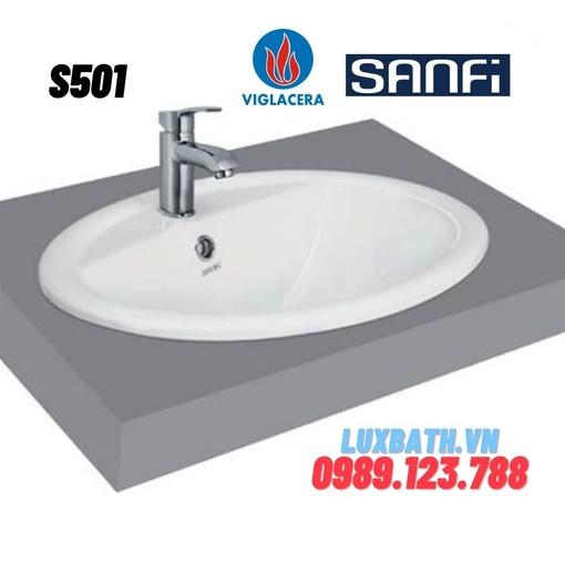 Chậu rửa mặt dương vành Sanfi S501