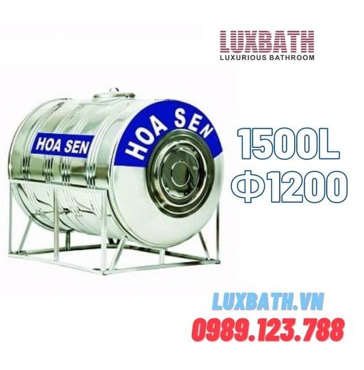 Bồn Nước Inox SUS304 Hoa Sen 1500L Nằm Phi 1200 HS 1500