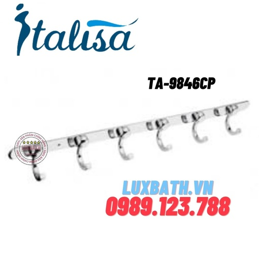 Móc 6 treo quần áo inox cao cấp ITALISA Td-9846CP