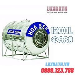 Bồn Nước Inox SUS304 Hoa Sen 1200L Nằm Ngang Phi 980 HS 1200