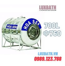 Bồn Nước Inox SUS304 Hoa Sen 700L Nằm Ngang Phi 760 HS 700