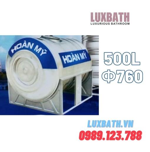 Bồn Nước Inox SUS304 Hoàn Mỹ 500L Nằm Ngang HM 500
