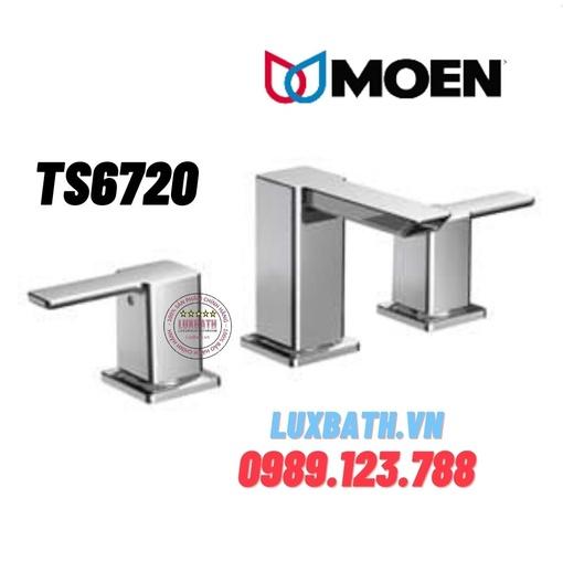 Vòi chậu lavabo nóng lạnh 3 lỗ Moen TS6720