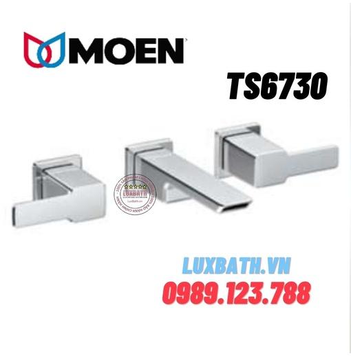 Vòi chậu lavabo nóng lạnh 3 lỗ Moen TS6730 (âm tường)