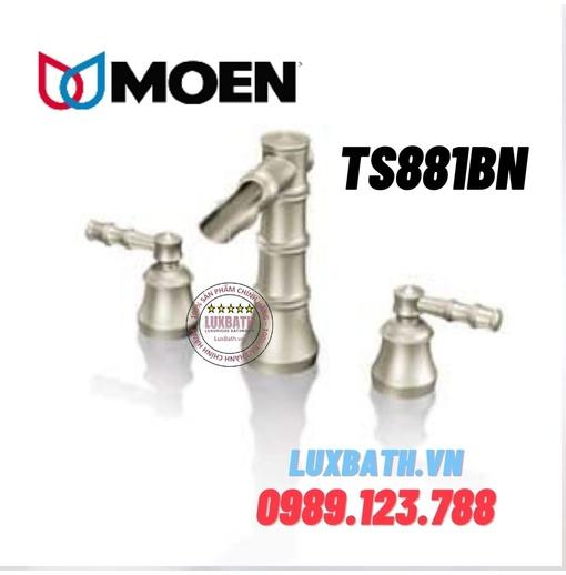 Vòi chậu lavabo nóng lạnh 3 lỗ Moen TS881BN