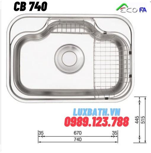 Chậu rửa bát Ecofa CB 740