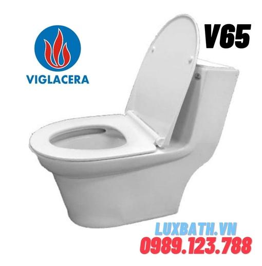 Bồn cầu 1 khối nắp êm Viglacera V65