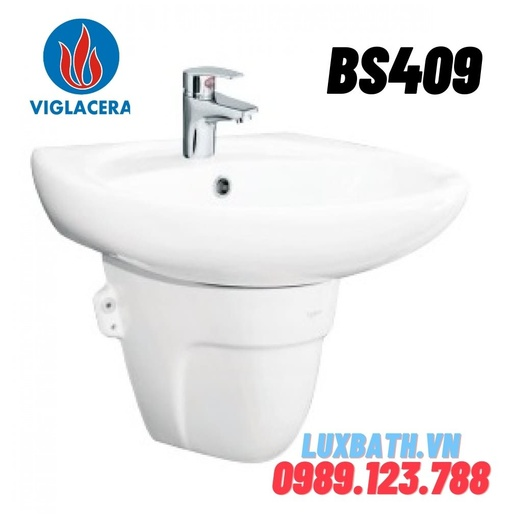 Chậu rửa mặt không chân đỡ Viglacera BS409