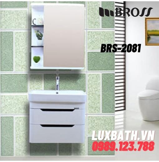 Bộ tủ chậu nhựa PVC 1 ngăn Bross BRS-2081