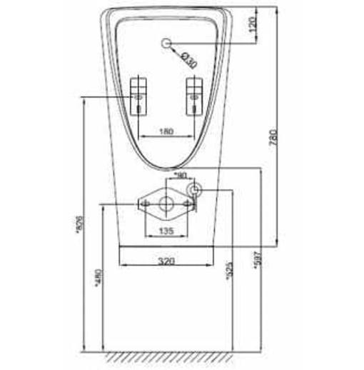 Tiểu nam treo tường American Standard WP-6519DC
