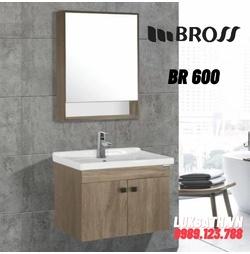 Bộ tủ chậu nhựa PVC 1 ngăn Bross BR 600