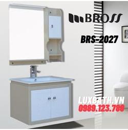 Bộ tủ chậu nhựa PVC 1 ngăn Bross BRS-2027