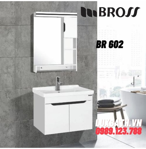Bộ tủ chậu nhựa PVC Bross BR 602