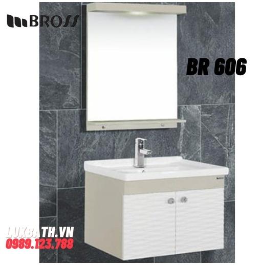 Bộ tủ chậu nhựa Bross BR 606